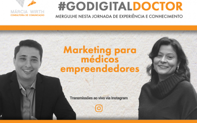 Vitor Jaci e Márcia Wirth conversam sobre marketing médico